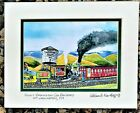 MT WASHINGTON COG RAILROAD TRAIN ART PRINT Mount NH White Mountains Summit Gift