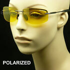 POLARIZED HD NIGHT DRIVING VISION SUN GLASSES YELLOW SHOOT AVIATOR SPRING HINGE