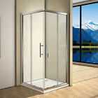New Corner Entry Sliding Shower Enclosure Glass Cubicle Stone Tray + Free Waste