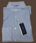 Ralph Lauren Purple Label Italy Mens Striped Keaton French Cuff Dress Shirt 17