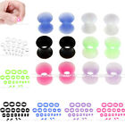 22x Flexible Silicone Ear Tunnel Plugs Earlets Gauge Expander Stretching Kit Set