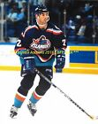 MATHIEU SCHNEIDER In ACTION Wearing FISHERMAN JERSEY 8x10 NEW YORK ISLANDERS~@@