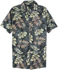 Big & Tall Men's Hawaiian Tropical Shirt Falcon Bay 4XL 2XLT - 5XLT Charcoal