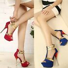 High Heels Women Pumps 2016 Wedding Shoes Ladies Peep Toe Strappy Party Shoes