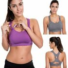La Isla Women's High Impact Full Coverage Wire Free Lightly Padded Sports Bra