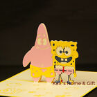 Spongebob and Patrick Pop up Birthday 3D Greeting Card Kirigami Gift UK Stock