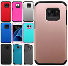 For Samsung Galaxy S7 HARD Astronoot Hybrid Rubber Silicone Cover +Screen Guard