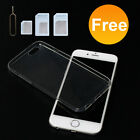 SILICONE TPU SOFT Case Transparent For iPHONE 6/6S Plus Protector + SIM Adapter