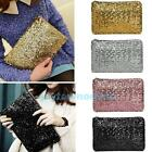 Fashion Women Lady Clutch Dazzling Sequins Glitter Sparkling Handbag Evening Bag