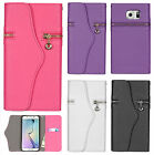 For Samsung Galaxy S7 EDGE Leather Premium Zipper Wallet Case Flip Phone Cover