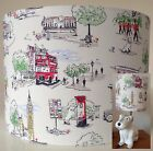 Cath Kidston Billie Goes to Town Fabric Handmade Drum Lampshade Table Ceiling