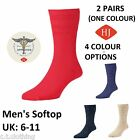 HJ Hall men's softop sock 2 PAIRS Cotton rich size UK: 6-11 Non elastic top HJ91