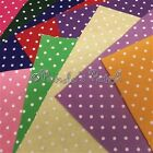 "Wool Mix Polka Dot Spotted Felt Squares 12"" Choose Colour or Mixed Pack Free P&P"