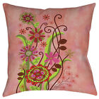 Thumbprintz Flower Power Stems Printed Throw Pillow