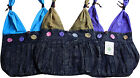 FAIR TRADE COTTON ROSEBUD FLOWER HIPPY BOHO FESTIVAL SHOULDER BEACH TRAVEL BAG