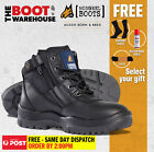 Mongrel 261020 Work Boots. Steel Toe Safety. Zip + Lace-Up.  FREE GIFT OPTION!