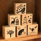 FD3054 Sweet 6 Pattern Wooden Wood Rubber Stamp Stamper Seal Craft Diary 1PC♫