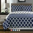 Meridian 100% Cotton Reversible Duvet Cover Soft Printed Comforter Cover + Shams image