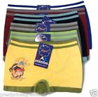 6 pk Boys Seamless Boxer Briefs Spandex Shorts Pirates Lot Underwear B11098 S~L