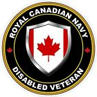 Royal Canadian Navy RCN Disabled Veteran Vet Decal / Sticker