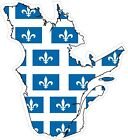 Quebec Map Flag Decal / Sticker