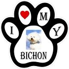 Bichon Dog Paw Decal / Sticker