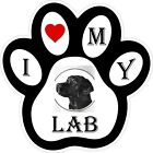 Black Lab Dog Paw Decal / Sticker