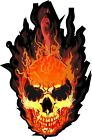 Flaming Skull Decal Bumper Sticker