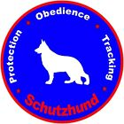 Schutzhund Round Decal Bumper Sticker