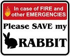 In Case of Fire Save My Rabbit Decals / Stickers
