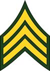 U.S. Army Sergeant Rank Insignia Decal / Sticker