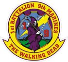 USMC Marine Corps 1st Battalion 9th Marine Regiment Decal / Sticker