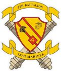 USMC Marine Corps 5th Battalion 14th Marines Decal / Sticker