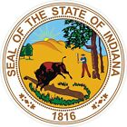 Indiana State Seal Decals / Stickers
