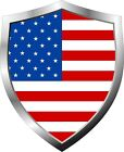 American United States Stars and Stripes Flag Shield Decal / Sticker