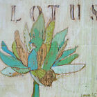 Lotus Teal by Jennifer Mercede Framed Painting Print on Wrapped Canvas
