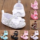 Cute Baby Infant Crib Girls Kid Shoes Bowknot Love Flower Soft Sole First Walker