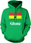 Distressed Ghana Country Flag - Ghanaian Pride Nationality Hoodie Pullover
