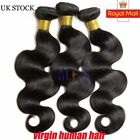 UK Unprocessed 7A Brazilian 100% Virgin 3 Bundles/300g Human Hair Body Weave MES