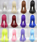 "60CM/24"" Long Straight 12 Colors Party Fashion Sexy Cosplay Wig Full Hair Wig"