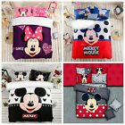 Mickey Mouse Quilt/Duvet Cover Set 100%Cotton Queen/King Bedding Doona Cover Set