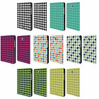 HEAD CASE DESIGNS HOUNDSTOOTH LEATHER BOOK CASE FOR SAMSUNG GALAXY TABLETS