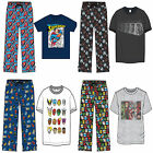 Mens Lounge Pants and T-Shirt Set Pyjamas Cartoon Marvel Nightwear Novelty pj