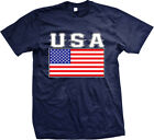 USA Bold Country Flag - United States of America American  Mens T-shirt