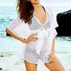 Sexy Lace Crochet Bikini Swimwear Cover Up V-Neck Beach Dress For Women