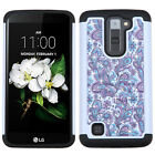 For LG K7 / Tribute 5 HYBRID IMPACT Dazzling Diamond Case Phone Cover Accessory