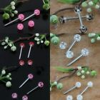 UV Stainless Steel Round Ball Bar Barbell Nipple Tongue Ring Piercing Jewelry