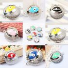 Crystal Silvery Enamel Devil Eye Hamsa Connector Spacer DIY Charms Findings