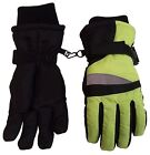 N'Ice Caps Kids Neon Reflector Thinsulate and Waterproof Ski Gloves