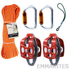 "Tree Climbing Pulley System Kit Set with 18"" Prusik Loop Professional Arborist"